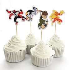 12x Ben 10 Cupcake Food Topper *HANDMADE* Party Supplies Lolly Loot Bags Deco