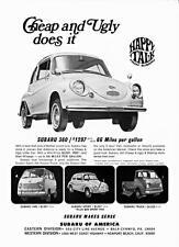 Print. 1969 Subaru 360 Models 'Cheap and Ugly does it'
