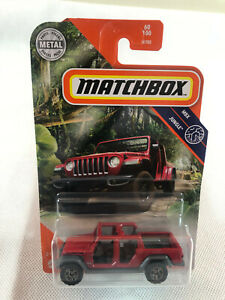Matchbox Jeep Gladiator Red - MBX Jungle 65/100 - Free Shipping