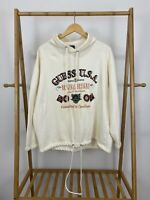 VTG Guess USA Spellout Pullover Hoodie Sweatshirt Size L