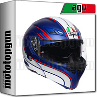 AGV 211021A2HY-011 CASCO ABATIBLE COMPACT ST MULTI BOSTON AZUL-BLANCO-ROJO L