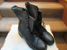 PAIR US ARMY BLACK COMBAT BOOTS MEN'S SIZE 8.5 REGULAR MARINES ROTHCO July 1982