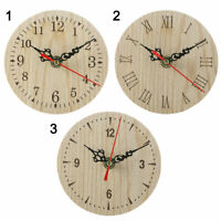Small Wooden Wall Clock Vintage Chic Office Living Room Decor