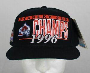 New Vintage 1996 Colorado Avalanche Stanley Cup Sports Specialties Snapback Hat