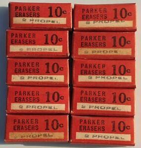 PARKER 10 BOXS X 2 MECHANICAL PENCIL ERASERS PROPEL NOS