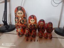 ANCIENNE POUPÉE RUSSE MATRIOCHKA 15 pieces