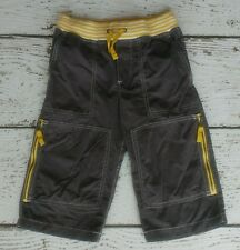 MINI BODEN Boys Gray Yellow Tecnho Shorts 6 EUC