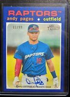 🔥💎 ANDY PAGES 2020 Topps Heritage Minors #/99 BLUE ON-CARD AUTO LA Dodgers