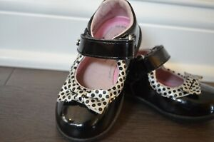 STRIDE RITE TODDLER GIRL DRESS SHOES BLACK MINNIE MOUSE LIMITED EDITION SIZE 6 M