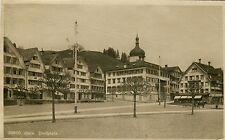 Switzerland Gais - Dorfplatz old real photo sepia postcard