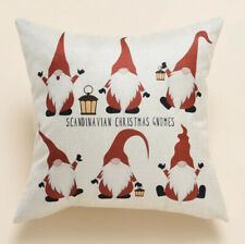Red Gonk Gnome Print Christmas CUSHION COVER Room Decor Contemporary Decor Home