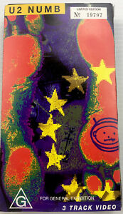 U2 NUMB, 3 Track VHS Video Cassette Tape PAL G