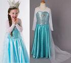 Princesse Enfants Fille Reine Elsa Cosplay Frozen Déguisement Déguisement Fête