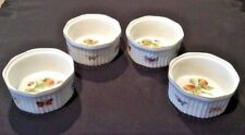 ARDALT HAND PAINTED LENWILE CHINA LOT OF 4 SOUFFLE DISHES OVEN TO TABLE #6512