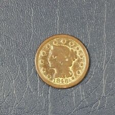 1846 Large Cent Braided Hair, Gold Wash, Small Date (Z-0105)