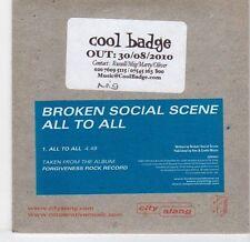 (EL345) Broken Social Scene, All To All - 2010 DJ CD
