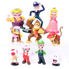 10pcs/set Super Mario Bros Peach Toad Luigi Yoshi Action Figure Cake Topper Toy