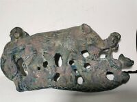 Chinese bronze garment&button hook hunting pattern dynasty button hook
