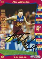 ✺Signed✺ 2019 BRISBANE LIONS AFL Card ALEX WITHERDEN