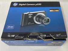 Hewlett Packard p550 16.1MP 12.5X/5X Zoom Compact Digital Camera New ! 🔥