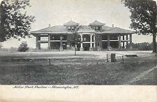 Bloomington Illinois~Fancy Miller Park Pavilion Dormers~1905 Postcard