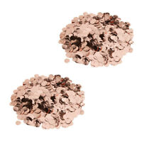 Rose Gold Metalic Foil Sparkling Round Table Confetti Scatter DIY