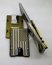 American Flag, Aluminum Wallet/Credit Card Holder, RFID protection, Green