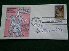 ED MACAULEY SIGNED BASKETBALL FIRST DAY COVER (HALL OF FAME)