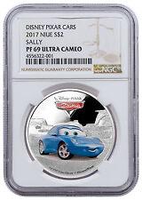 2017 Niue Disney Cars Sally 1 oz. Silver Colorized Proof $2 NGC PF69 UC SKU47605