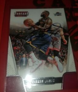 Signature/Signed Lebron James - 2016 Panini Threads card Autograph w/ COA NM-MT!