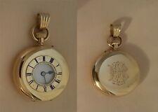 1800s Scottish Muirhead & Sons 18k gold half hunter pocket watch 14k bale RUNS