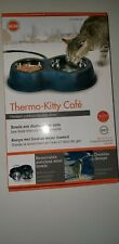 K & H Thermo-Kitty Cafe Black New Keeps Pets Water And Food Thawed