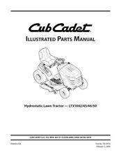 CUB CADET LTX1042 45 46 50 HYDROSTATIC LAWN TRACTOR PARTS MANUAL REPRINTED