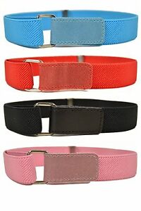 1-15 Yrs, Kids / Junior Belts. Boys & Girls Stretch Hook & Loop Belts
