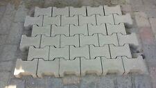 Betonpflaster Pflastersteine Doppel-T 8 cm grau Minifase Pflaster Sonderposten