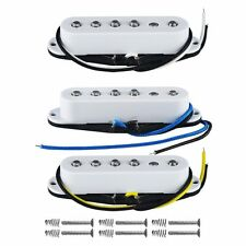 1 Set of 3pcs  Alnico V Vintage Single Coil Guitar Pickup White