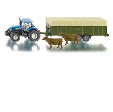 FARMER SIKU 1863 New Holland T7070 Tractor Livestock Trailer 1:87 Diecast Model