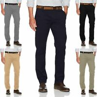 New Mens Ex-Store Chino Summer 100% Cotton Regular Straight Leg Pants Trouser