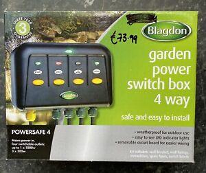 Blagdon Powersafe Weatherproof Electric switch box garden fishpond 4 way
