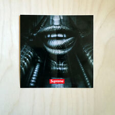 Supreme sticker vinyl decal skateboard NYC bumper H.R. Giger lips alien SK8
