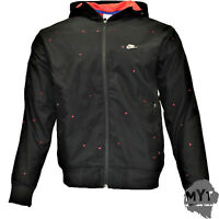 Mens Nike TN Tuned Air Hooded Jacket Zip Black with Red Inside Lining