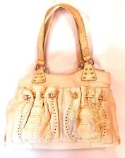 Chi Ivory Purse Two Strap Two Outside Reptile Pockets Multi Interiors