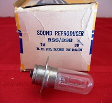 NEW - Sylvania Type BSS 1A 6V Sound Reproducer Lamp Bulb - NEW