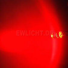 20 LEDs 5mm Rote 14000mcd LED Rot Red Möbell Beleuchtung Auto Tuning Modellbau