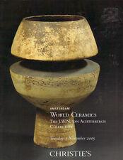 CHRISTIES CERAMICS Maiolica Pre-Columbian Islamic Japanese Rie Coper Achterbergh