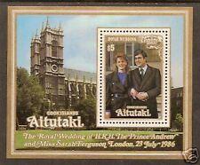 AITUTAKI COOK ISLANDS 1986 Prince Andrew ROYAL WEDDING S/Sheet MNH