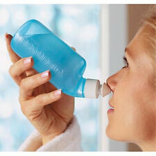 NASOPURE - FACTORY FRESH -  8 oz Bottle + Swish Stix NASAL Virus flu sinus RINSE