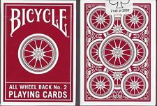 RARE Bicycle All Wheel Back No. 2 Red Playing Cards Deck!! Only 2500 Printed!