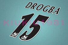 Chelsea Drogba #15 PREMIER LEAGUE 97-06 Black Name/Number Set