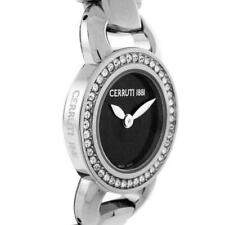 CERRUTI 1881 LADIE'S FIORE SWISS QUARTZ STAINLESS WATCH NEW BLACK CT69042X403011